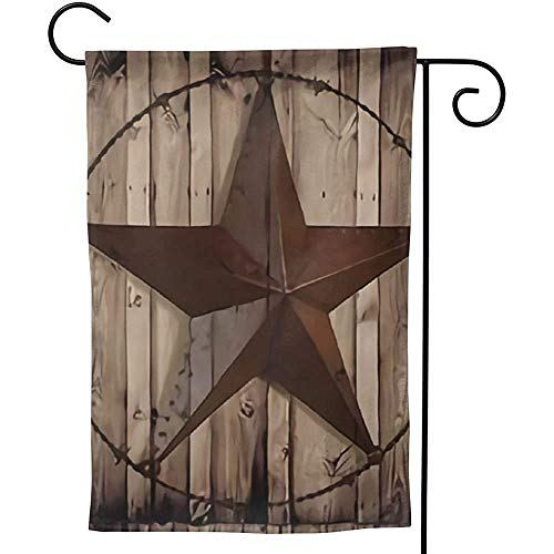 Zome Lag Oorspronkelijke Westland-schuren hout vuil-textiel ster huistuin vlaggen decoratief huis dubbelzijdig Vlaggen M(70X107) Zoals op de afbeelding.