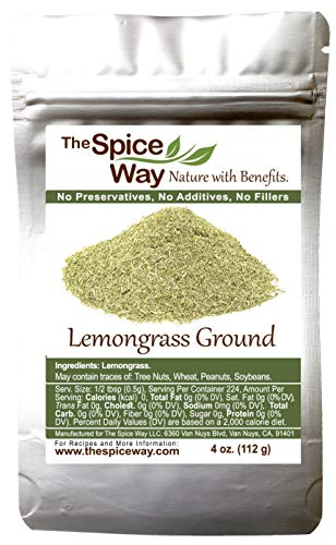 The Spice Way Lemongrass Powder – ( 4 oz ) freshly ground dried herb. Used for cooking and tea.