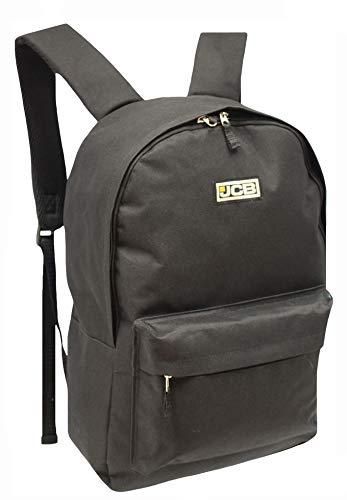 JCB Backpack for School Work Travel Aircraft Carry On (Black)