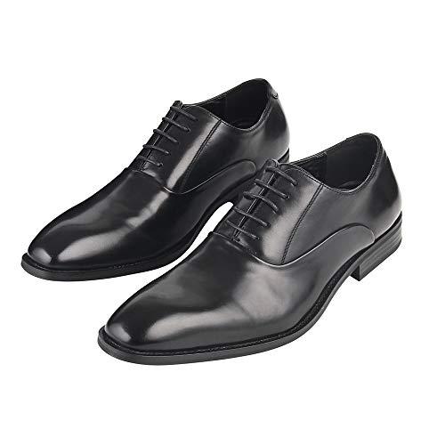 [Adolph] ビジネスシューズ 革靴 メンズ ストレートチップ 防滑 ZY-1006 (ブラック) 24.5cm-27.0cm (26.5...