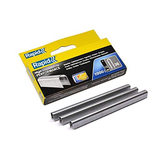 Rapid R36 - Grapas para cable (caja de 1000 unidades, 12 mm)
