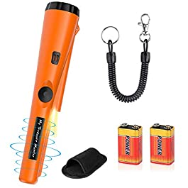 Détecteurs de Métaux avec 2 Piles Pinpointer Portable Sonde IP66 Étanche Trésor Chasse Outil Suzzer Vibrations…
