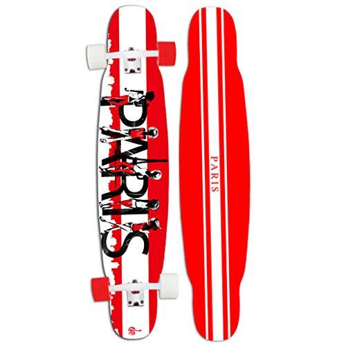 HYE-SPORT Longboards Skateboard 46 Inch X 9 Zoll Wide Deck Pro Leichtes Tanzen Longboard Geschwindigkeit Drop-Through Freestyle Skateboard - Lernen, Üben und Land Tricks in kürzester Zeit!