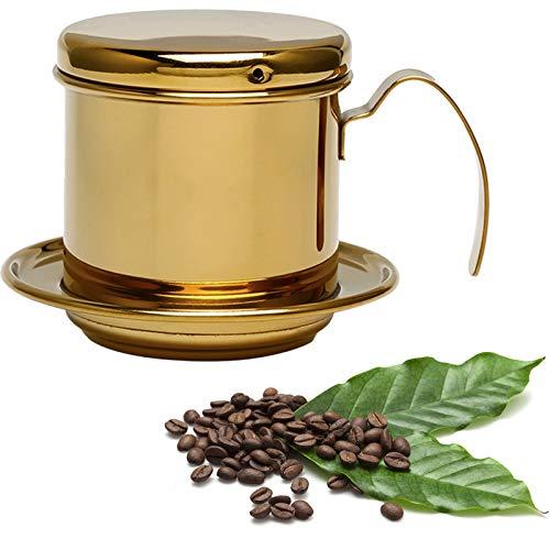 FAMKIT Filtro de Máquina de Café Taza de Acero Inoxidable Máquina de Filtro de Goteo de Café Vietnamita sin Infusor