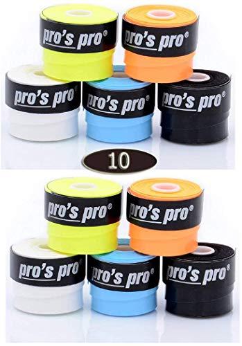 Pros Pro Cyclone - Bandas adhesivas para raquetas de tenis (10 unidades),...