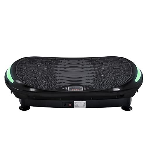 Plataforma Vibratoria Placa De Vibración 4d En Diseño Curvado con Control Remoto Portátil / 3 Motores/Altavoz Bluetooth Plataforma De Ejercicios De Vibración Equipo De Entrenamiento para El Hogar