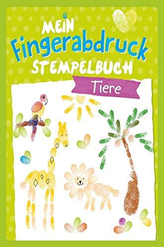 Tiere - Mein Fingerabdruck Stempelbuch: Mit 4 Stempel-Farben  im Coverblister