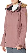 Volcom Women's Fawn Insulated Snowboard Ski Winter Hooded Jacket, ROSE WOOD, S