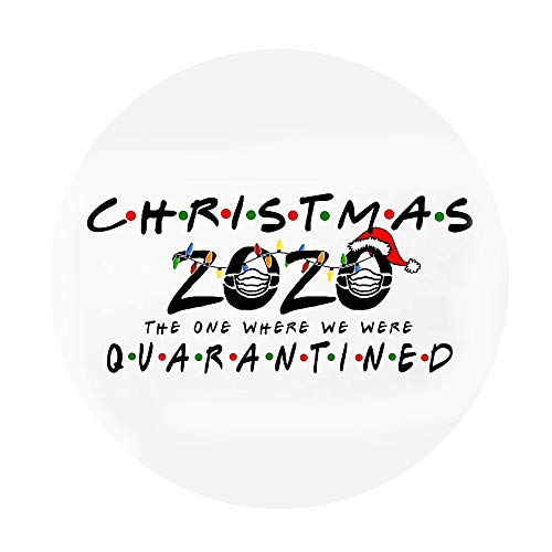Christmas Party Decoration Gifts Personalized Family Stickers Doors Windows Wall Round Stickers