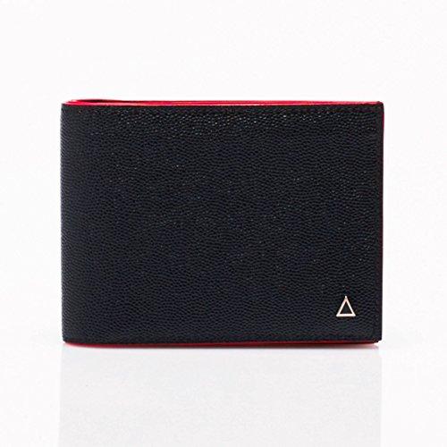 Anonyme Paris Reiseportemonnaie aus Ziegenleder, hergestellt in Frankreich, Schwarz