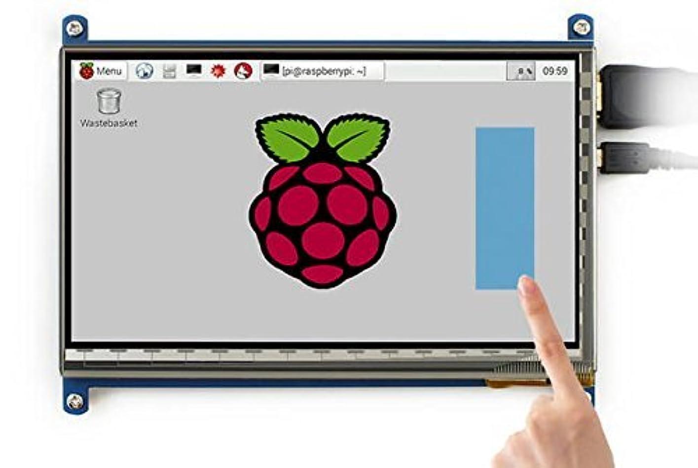 アンティーク嫌い医学cocopar Raspberry Pi (1024*600)ラズベリーパイに適応する7インチHDMI ハイビジョン LCDディスプレイ USBコンデンサータッチモニター 液晶パネル スクリーン