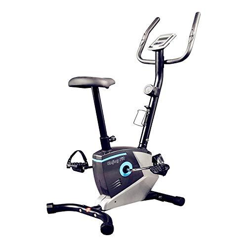 Enjoy Fit Crosstrainer Heimtrainer Fahrradtrainer mit Handpuls-Sensoren Silber/blau