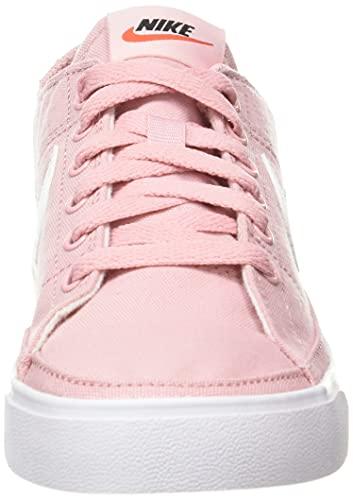 Nike Wmns Court Legacy Cnvs, Zapatillas Deportivas Mujer, Pink Glaze White Black Team Orange, 38.5 EU