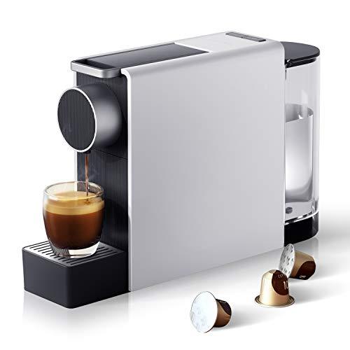 Scishare Machine à café à capsules 2 tailles de tasses Espresso Capsule compatible Design minimal 19 bar Pression de pompe Lungo Espresso Boissons Lavazza / Nid / Starbucks Nespresso Compatible