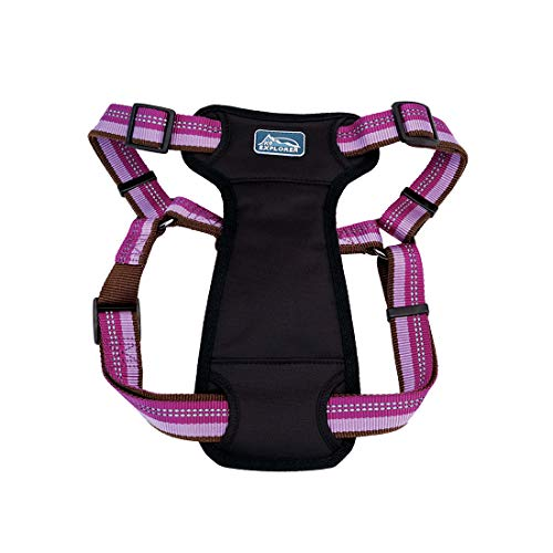 Coastal - K-9 Explorer - Reflective Adjustable Padded Dog Harness, Orchid, 5/8' x 12'-18'