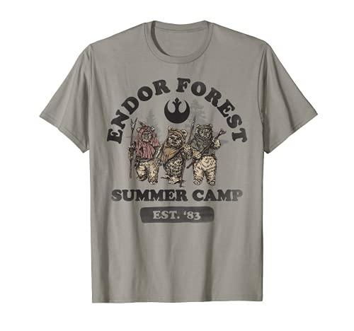 Star Wars Endor Forest Summer Camp Ewok Trio Portrait T-Shirt