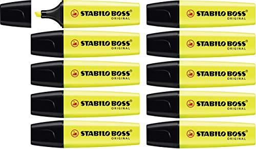 Textmarker - STABILO BOSS ORIGINAL - 10er Pack - gelb