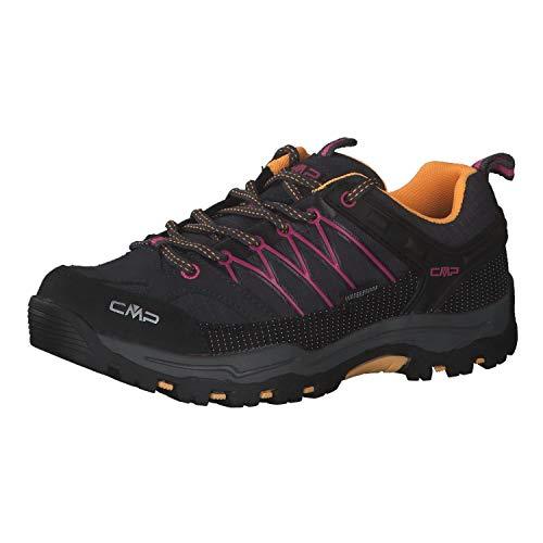 CMP Chaussures basses de trekking et randonnée pour enfant Rigel Low Shoe Wp Unisexe - Gris - Anthracite, rose., 39 EU