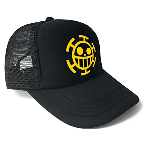 Gumstyle One Piece Trafalgar Law Anime Cosplay Baseball Cap Trucker Sun Hat Unisex 1