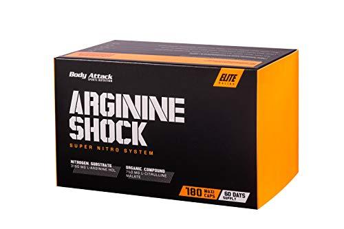 Body Attack Arginine Shock, L-Arginin – L-Citrullin Malat - hochdosiert (1 x 180 Caps)