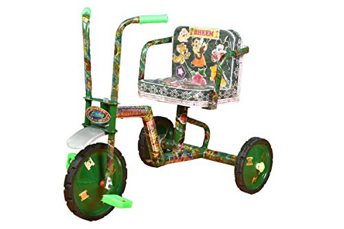 Lucky Cycle Baby Tricycle (Steel Thickness: 1 1/4 inch, Colour: Green, Model : Heavy)