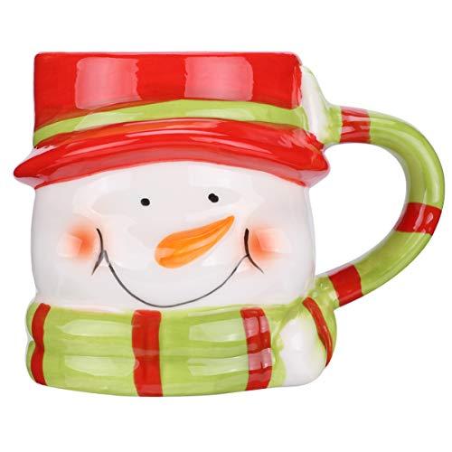 Amosfun 1PC Christmas Snowman Mug Coffee Mug Christmas...