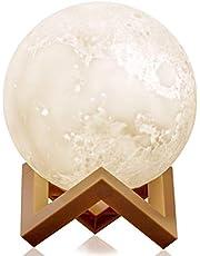 ضوء ليلي مطبوع بتقنية الطباعة ثلاثية الابعاد على شكل قمر لتزيين المنزل 15 سم