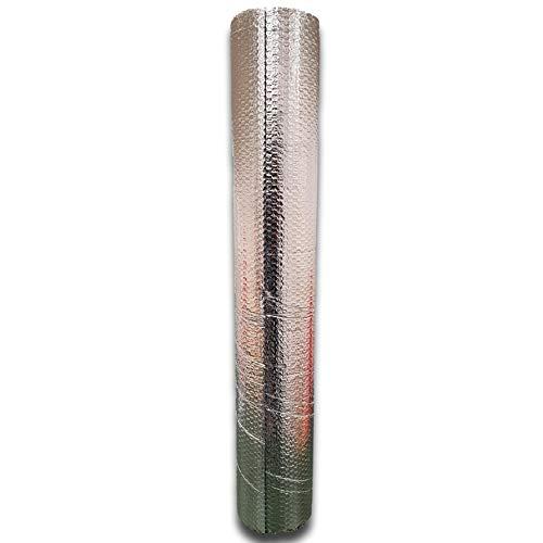 IMBALLAGGI 2000-1 Rotolo di foglio Isolante multisuo a doppio strato termico riflettente, rotoli 1mt x 7mt con biadesivo compreso 7 mq