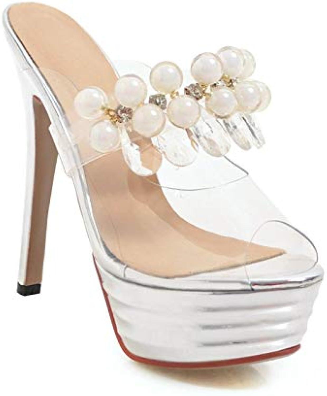 MENGLTX High Heels Sandalen 2019 Heißer Frauen Frauen Frauen Sandalen Transparente Sommer Schuhe Perle Party Hochzeit Schuhe Frauen High Heels Plattform Schuhe Damen B07QLWXKJZ  Zart 1210d9