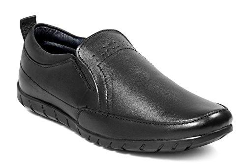 Bacca Bucci Men Genuine Leather Black Formal Shoes 8 UK