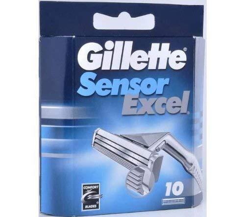 050-080-0002 Gillette Sensor Excel Klingen Zubehör 10 Stück