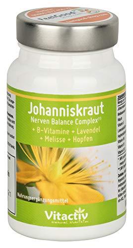 JOHANNISKRAUT Nerven Balance Complex hochdosierte Kapseln für Psyche, Nerven, Schlaf &...