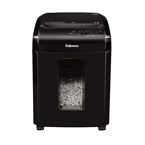 Fellowes 10M - Destructora trituradora de papel, microcorte, 10 hojas