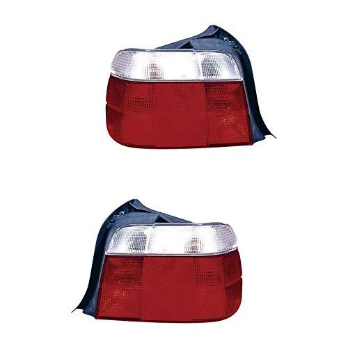 Rückleuchte Heckleuchte Set links & rechts rot P21W P21/5W R10W PY21W ohne Lampenträger für Model 3er Compact E36