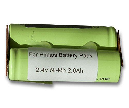Vinitech Akku für Philips Philishave Rasierer Akku Batterie Battery Accu Ersatzakku, 138-10609, 482213810609, 482213810672, 482213810728, 482213810487, Braun EP50, EP60, EP80, EP100, 540, 3570, 3511, Braun 3512, 3520, 3525, 3610, 3612 2000mAh NiMh