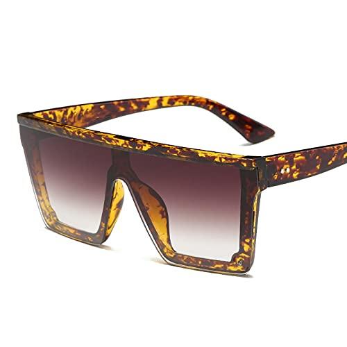 PADQ Gafas de Sol Hombre MujerGafas de Sol HombreUV400 Espejo Tortuga