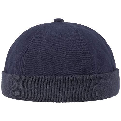 Lipodo Bonnet Docker en Coton Femme/Homme - pour Homme Couvre-Chef D'Ete Bonnets Docker, Fermeture Fermeture Scratch Printemps-ete - Taille Unique Bleu