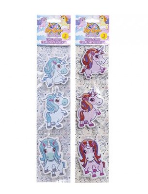 Unicorn Désodorisant Lot de 3Licorne Parfum de vanille Désodorisant pour voiture en bleu ou rose pastel à partir de Homestreet