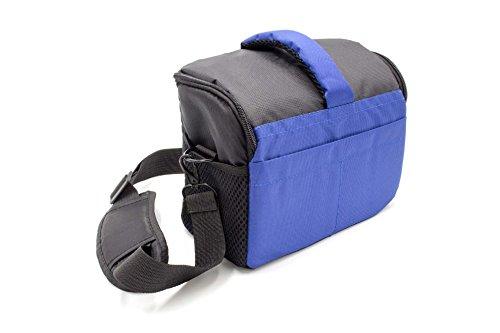 vhbw Universal Tasche 1640 schwarz-blau passend für Kamera Sony HDR-PJ810