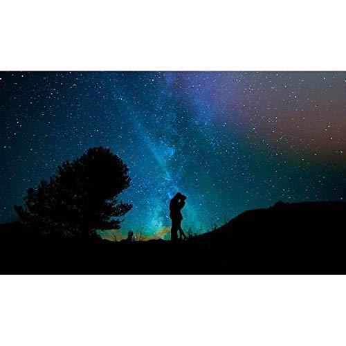 Omfamna par under stjärnhimmel 500, 1000, 1500, 2000, 3000, 4000, 5000 stycken, träback pussel, pedagogiska leksaker för vuxna och barn, julklapp. 1221 ( Color : Partitions , Size : 500 pieces )