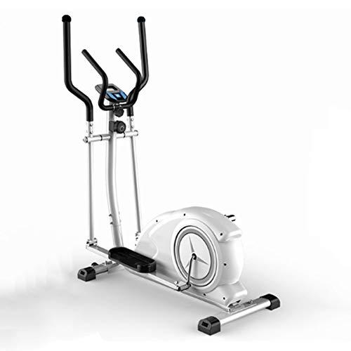 YIZHIYA Elípticas de Fitness,Máquina de Entrenamiento elíptica multifunción con Resistencia magnética Ajustable de 8 Niveles,Gimnasio pequeño portátil Ultra silencioso Equipo de Fitness,Blanco