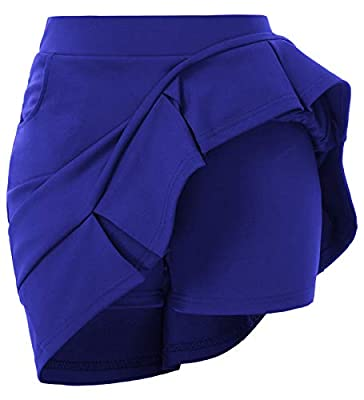 GRACE KARIN Women Running Tennis Golf Workout Sports Skort with Pockets Royal Blue
