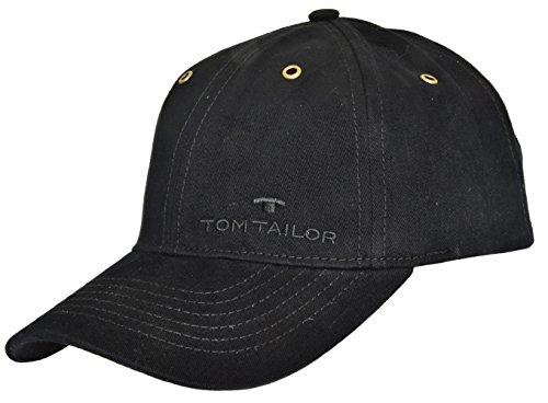 Tom Tailor Herren Basecap Mütze 6-Panel-Cap Base Cap Kappe uni one size (Schwarz (790))