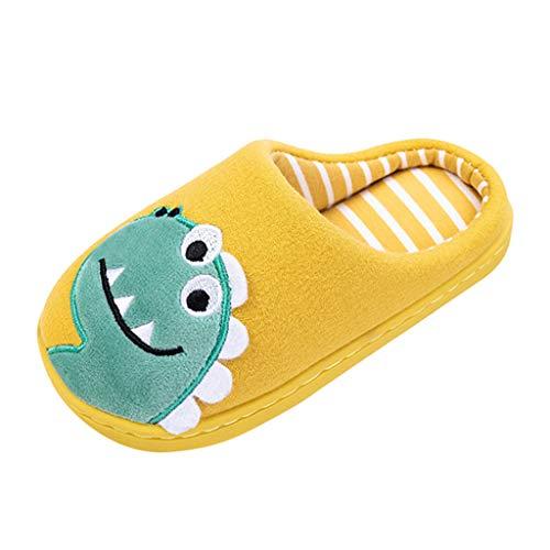 Topgrowth Ciabatte Bambino Inverno Dinosauro Pantofole A Casa per Bambini Antiscivolo Scarpe Indoor Pantofole di Cotone Bimbo Pantofole da Casa Neonata Caldo Fumetto Slippers