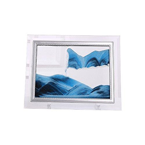 JUNLONG Creative 3d en mouvement Fluide Sable Image dynamique en sable Photo Scenery Hourglass, Plastique, Gold2, 170 * 220 mm