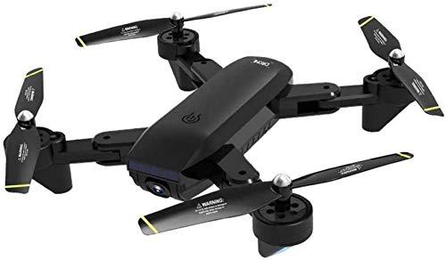 Mnjin Doble cámara 4K Drone Avión RC Plegable de Cuatro Ejes Avión de Control Remoto aéreo HD para Regalo para niños en Interiores y Exteriores para Adultos