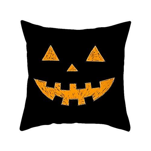 Aiserkly Decorazioni Per Halloween Federe Lino Cuscini Per Divano Decorazioni Per La Casa (D,45x45 cm)
