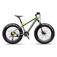 JAJU Men's Mountain Bikes, Professional 26 Inch Adult Fat Tire Hardtail Mountain Bike, Aluminum Fram...