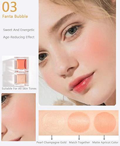 Ensemble de combinaison Ensemble de combinaison surligneur mini blush,outil de combinaison pour surligneur blush pour femmes,peut cacher les pores,la forme de la glace est facile transporter,Natural