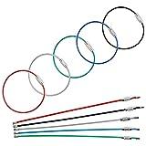 Uniclife 20 Piezas Llavero de Alambre Cable de 15 cm de Acero Inoxidable Llavero Loop para Senderismo al Aire Libre